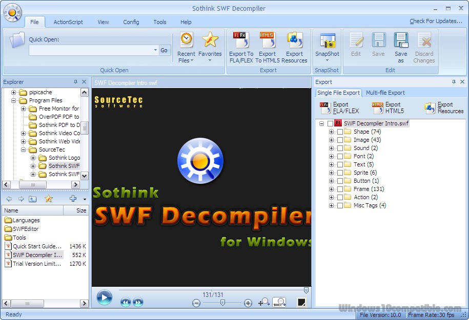 Sothink SWF Decompiler 7 4 Free download